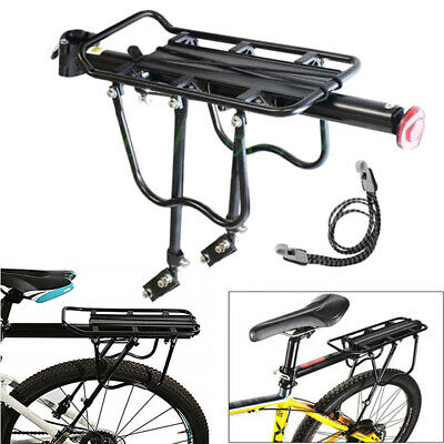 Alloy Bicycle Bike Rear Rack Pannier Seat Carrier Bag Luggage Cycle Mountain UK • 15.96£