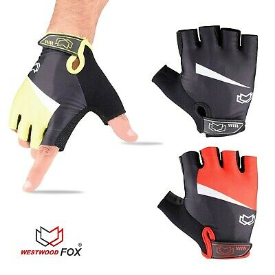 WFX Mens / Women Cycling Gloves Fingerless Gel Padded Gym Best Grip Fitness Pro • 7.99£