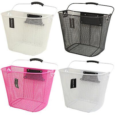 PedalPro Bicycle Front Handlebar Mesh Basket With Carry Handle Shopping/Bike • 14.99£