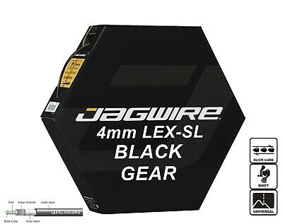 JAGWIRE Black 4mm Bike Gear Outer Cable Housing LEX-SL Pre-Lubricated JGC124 • 6.99£