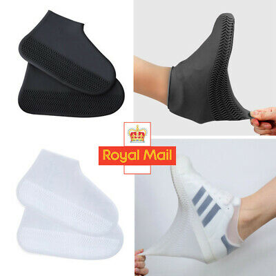 Silicone Overshoes Rain Waterproof Shoe Covers Boot Cover Protector Recyclable • 2.99£