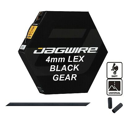 JAGWIRE Black 4mm Bike Gear Outer Cable Housing LEX Derailleur (non-lubed Liner) • 2.99£