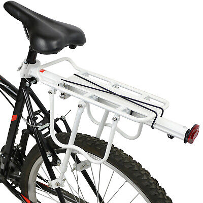 Pedalpro Strong Alloy White Rear Bicycle Pannier Bag/luggage Rack Reflector Bike • 13.99£