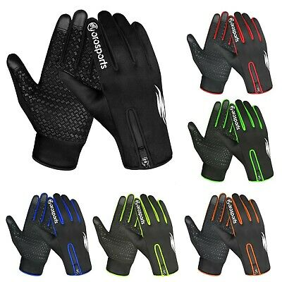 Oro Sports Cycling Gloves Windproof Touchscreen Full Finger Running Biking Glove • 9.99£