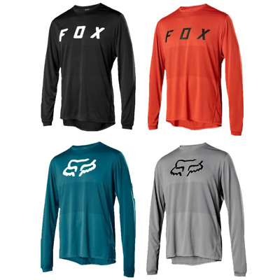 Mens Ranger LS FOX Jersey Long Sleeve Mountain Bike MTB Trail Bicycle Racing Top • 10.99£