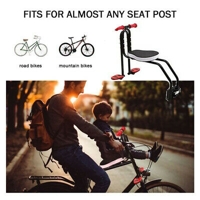 Safety Child Baby Kids Bike Bicycle Cycle Seat Front Carrier With Handrail • 41.59£