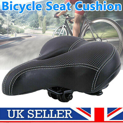 Universal Extra Wide Soft Cushioned Bicycle Gel Saddle Bike Bicycle Seat Padded • 17.59£
