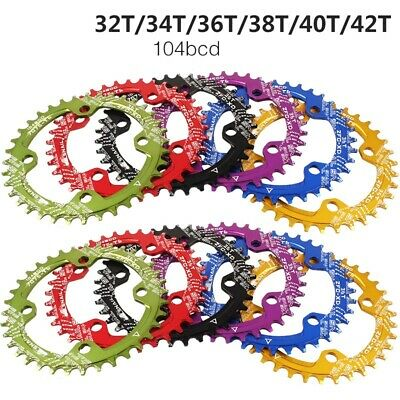 SNAIL BCD 104mm Bike Narrow Wide Round Oval Chainring Ring 32T - 42T Tooth Chain • 14.99£