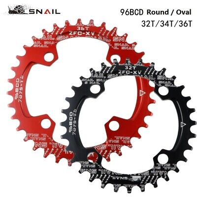 SNAIL BCD 96mm Bike Narrow Wide Round Oval Chainring Ring 32 - 36T Tooth Chain • 8.99£