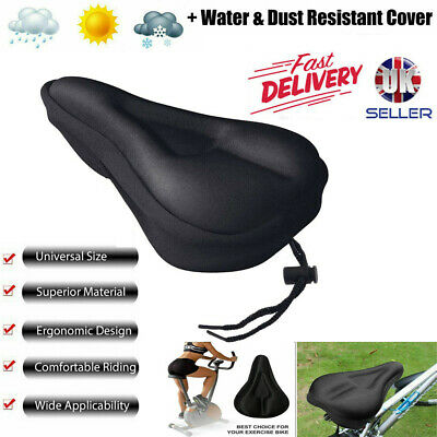 Mountain Bike Comfort Soft Gel Pad Comfy Cushion Saddle Seat Cover Bicycle Cycle • 6.39£