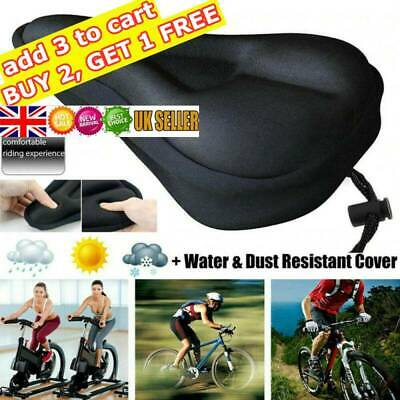 Soft Comfort Gel Pads Mountain Bike Comfy Cushion Saddle Seat Cover Bicycle • 5.99£