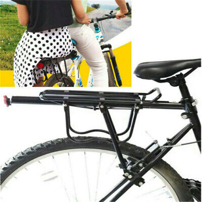 Bike Rear Rack Seat Luggage Carrier Bicycle Post Pannier Quick Release Shelf Bla • 12.96£