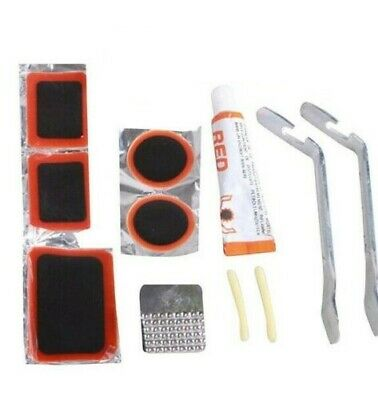 Puncture Repair Kit Bike  Inner Tube Tyre Inflate Patches & Glue Cycle Bicycle • 2.99£