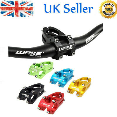 Cycling Bicycle Aluminium Alloy MTB Mountain Bike Handlebar Stem 31.8mm UK • 6.99£
