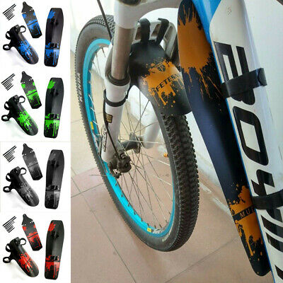 3pcs Mountain Bike Front/Rear/Down Wings Cycling Mudguard Tube Bicycle Fenders • 7.99£