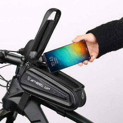 Cycling Bike Bicycle Frame Bag Front Tube Pouch Case MTB Waterproof Phone Holder • 10.69£