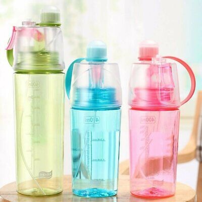Gym Outdoor Sports Water Drink Cup Bottle Cycling Hiking Portable Spray Bottle • 7.59£