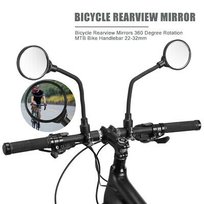 1Pair Bicycle Mobility Scooter Mountain Bike Handlebar Rear View Mirrors • 11.99£
