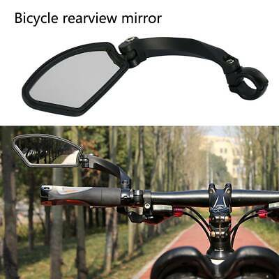 1X Bicycle Cycling Handlebar Left Rear View Rearview Mirror Rectangle Colourful • 10.99£