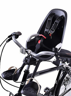 Hamax Caress Observer Mini Front Child Bike Seat 15kg Max Grey/white Quill Fit • 59.99£