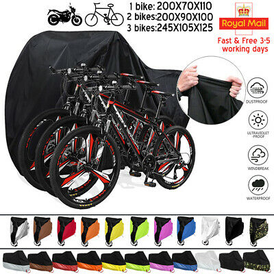 Bike Cover For 2 Bikes Oxford Heavy Duty Outdoor Waterproof 1/2/3 Bicycle Covers • 14.29£