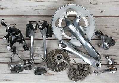 Shimano Tiagra 4600 10 Speed Groupset + Pedals • 255£