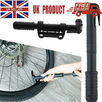 Cycle Pump (SUITS ALL VALVES) Mountain Bike BMX Bicycle T-BAR HANDLE Locks On UK • 5.39£
