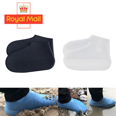 Silicone Overshoes Rain Waterproof Shoe Covers Boot Cover Protector Recyclable Q • 2.88£