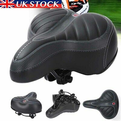 Universal MTB Extra Wide Comfy Cushioned Bike Seat Soft Pad Bicycle Gel Saddle • 10.99£