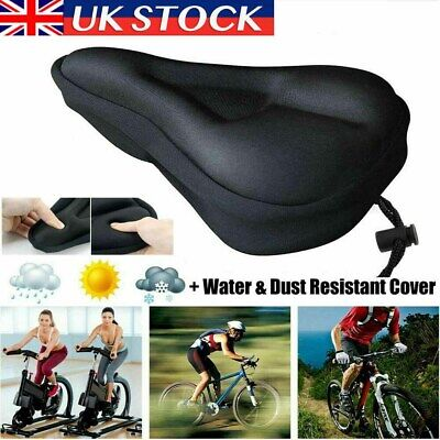 Cushioned Road Bike Seat Cover Soft Padded Gel Bicycle Cycle Saddle Cushion UK • 4.79£