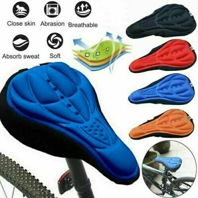 Bike Bicycle Silicone 3D Gel Saddle Seat Cover Pad Padded Soft Cushion Comfort • 3.59£