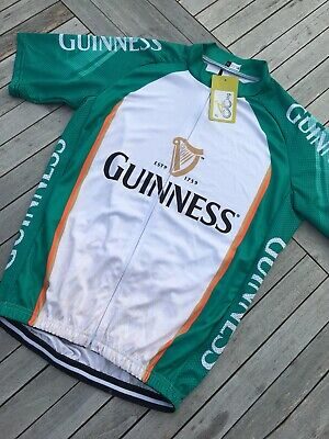 XL Guinness Cycling Jersey Beer Novelty Racing Bike Vest Top Lycra Bicylcle Mens • 10£
