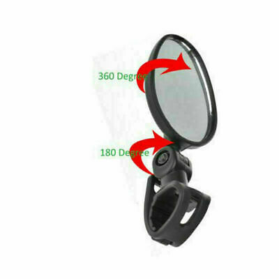 Bike Rear View Mirror Bicycle Road 360° Safety Flexible Handlebar Back Vision UK • 2.99£