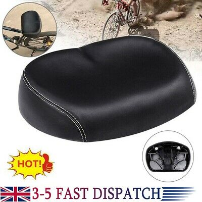 Extra Wide Big Bum Bicycle Saddle Gel Cruiser Sporty Soft Pad Seat New Comfort • 11.49£