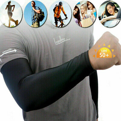 Unisex Outdoor Bike Golf Sports Cooling Arm Sleeves Cover UV Sun Protection • 2.95£