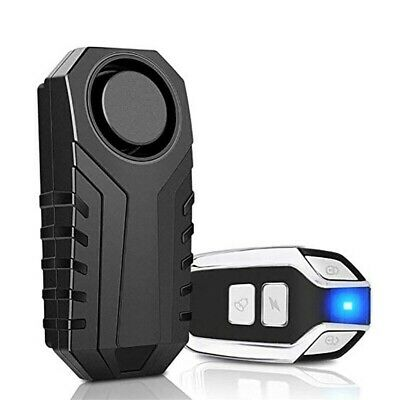 UK 113dB Wireless Anti-Theft Vibration Motorcycle Bicycle Bike Alarm Security ES • 12.46£