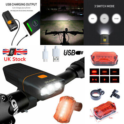 USB Rechargeable Bicycle/Super Bright Bike Lights Set Light Waterproof • 15.97£