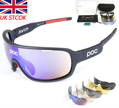 5 Pieces POC Sunglasses Polarized Cycling Glasses Sports Glasses Glasses 2020 NE • 15.55£