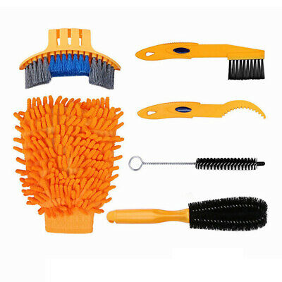 6pcs Bicycle Chain Cleaner Cycling Clean Tire Brushes Tool Kit Set Bike Cleaning • 6.37£