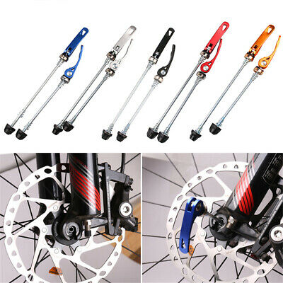 Bicycle Front Rear Quick Release Skewer Mountain Bike Wheel Skewers Lever Set UK • 4.36£