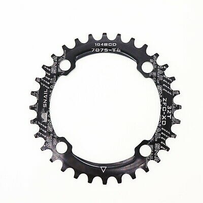 104BCD 32T Narrow Wide Round Bike MTB Chainring Single Tooth Chain Ring Black UK • 7.19£