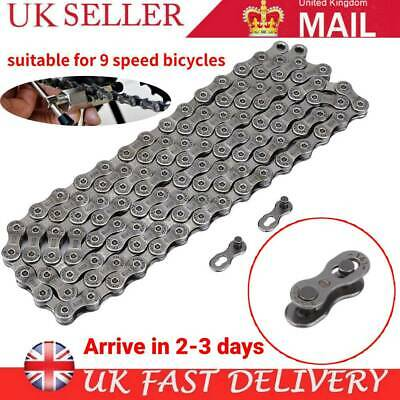 9 Speed 116 Links HG73 Mountain Bicycle Chain Road Bike Chain For 9/27 Speed MTB • 8.19£