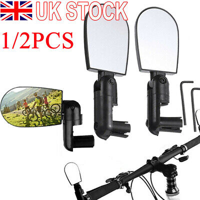 1/2x Cycle Bicycle Handlebar Convex Mirror 3D Mountain Road Bike Rear View UK • 4.59£