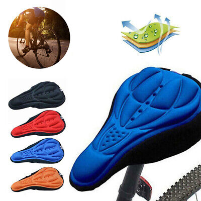 Bike Bicycle 3D Gel Silicone Saddle Seat Cover Pad Padded Soft Cushion Comfort • 1.99£