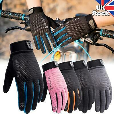 Outdoor Cycling Full Finger Glove Riding Breathable Anti Slip Bicycle Gloves UK • 4.99£