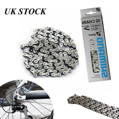 Racing Bicycle 6/7/8 Speed Chain IG51 Shimano MTB 116 Links Silver + Black • 6.58£
