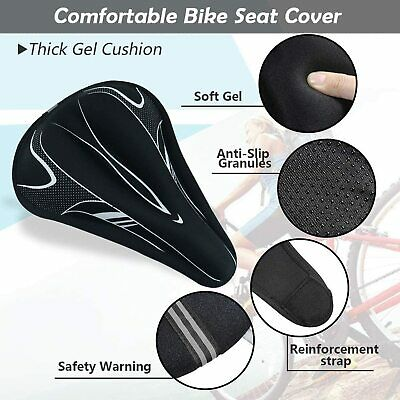 Gel Bike Seat Cover Bike Saddle Cover For Mountain Bike Seat And Road Bike  • 7.99£