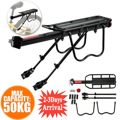 50kg Max Alloy Rear Bicycle Pannier Rack Carrier Bag Luggage Cycle Mountain Bike • 12.98£