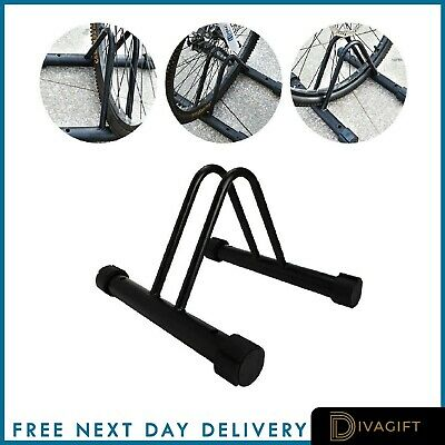 Cycle Bicycle Bike Parking Rack Floor Stand Steel Pipe Storage Wall Mount Holder • 12.97£
