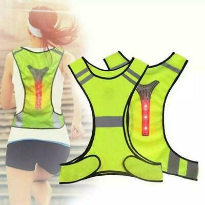 Reflective Cycling/Running Vest With Led Lights Mens/Womens • 5.85£